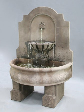 Provincial Wall Fountain with Pedestals - Soothing Walls