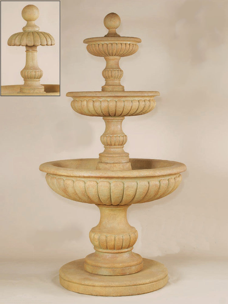 Fontanone Three Tier Outdoor Water Fountain - Soothing Walls