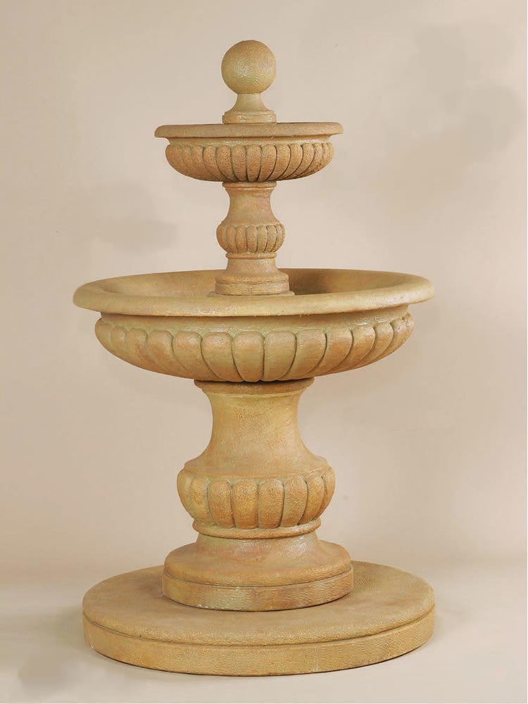 Acqua Sparta Two Tier Outdoor Water Fountain - SoothingWalls