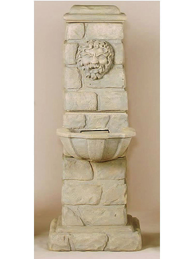 Green Man Column Outdoor Water Fountain - Soothing Walls