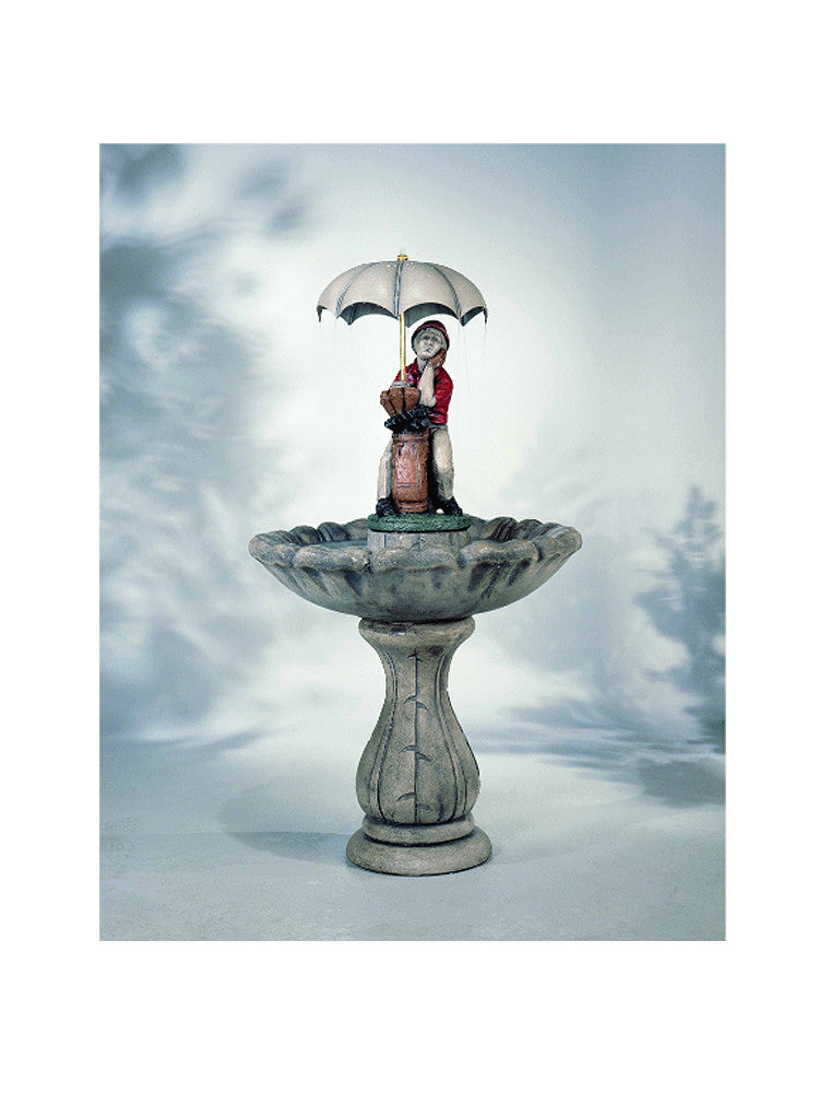 Classic Golfer Garden Fountain - Soothing Walls