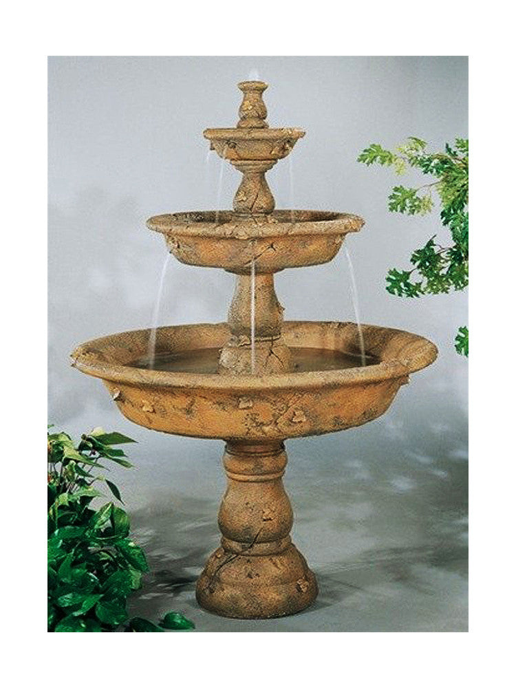 Triple Tazza Tier Outdoor Fountain - Soothing Walls