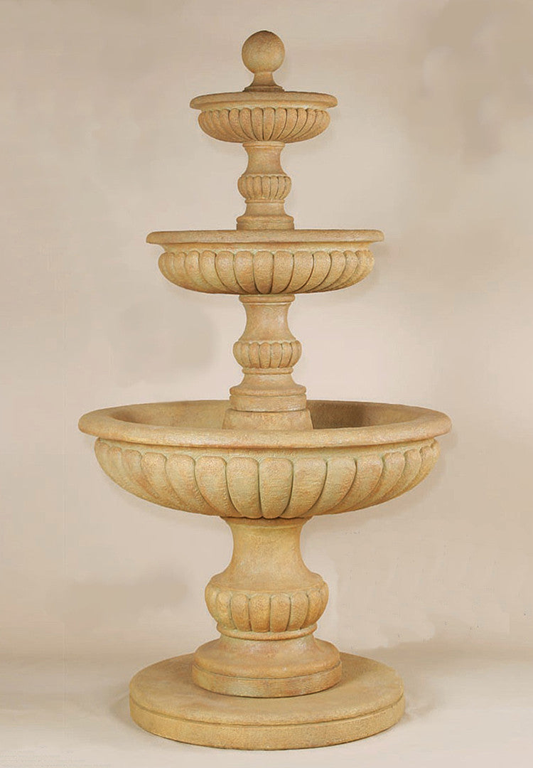 Acqua Sparta Three Tier Outdoor Water Fountain - Soothing Walls