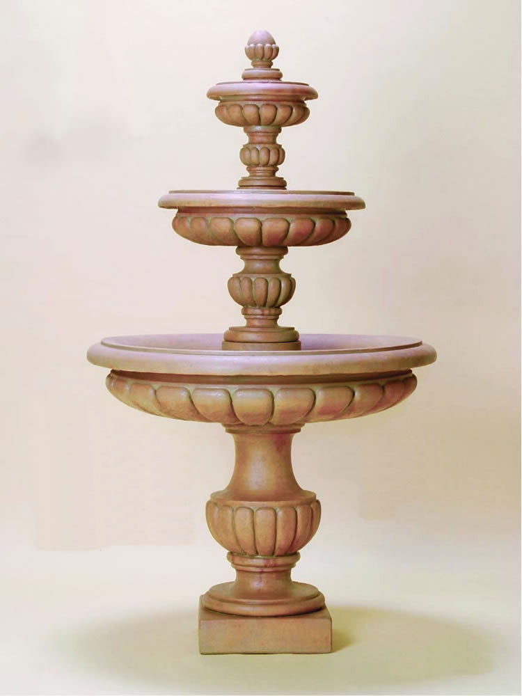 Parigi Three Tier Outdoor Water Fountain - Soothing Walls