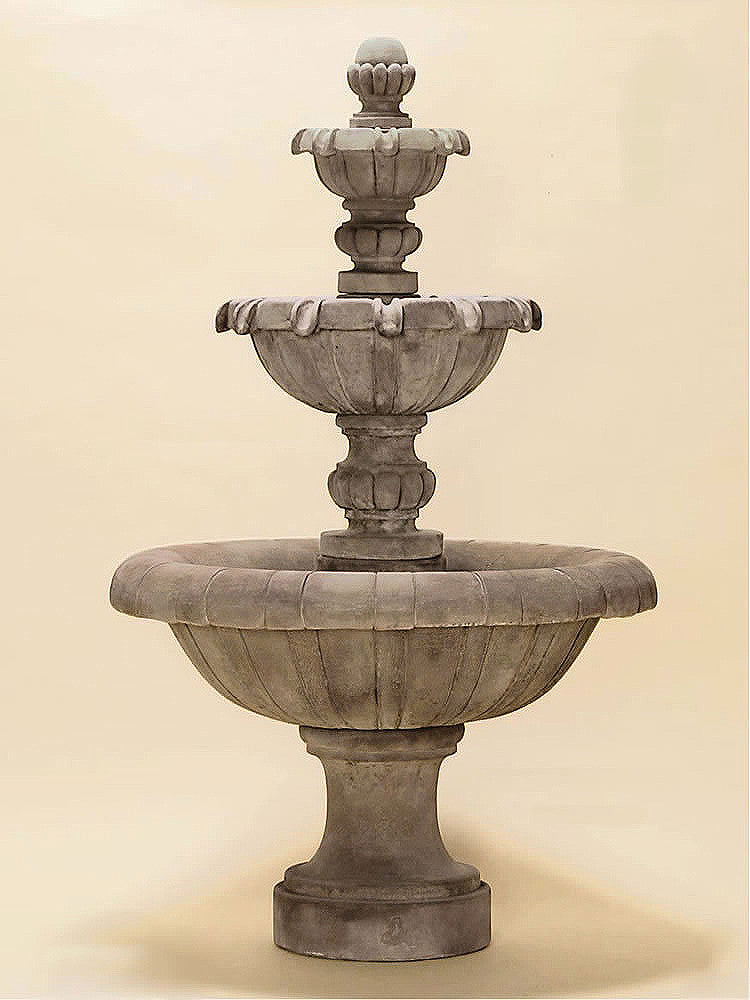 Jardin Three Tier Outdoor Water Fountain Short - Soothing Walls