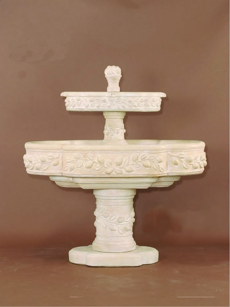 Limoni Romani Two Tier Outdoor Water Fountain - Soothing Walls
