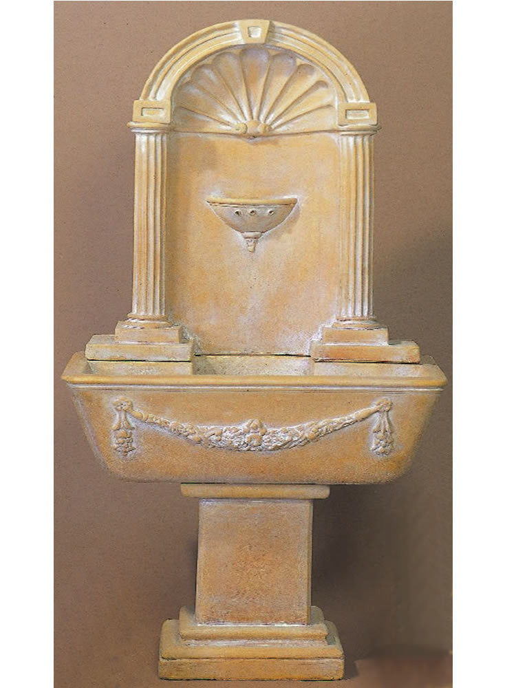 Renaissance Wall Outdoor Water Fountain - Soothing Walls