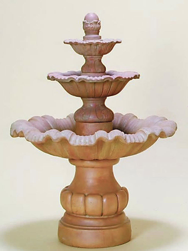 Mallorca Three Tier Outdoor Water Fountain Short - Soothing Walls