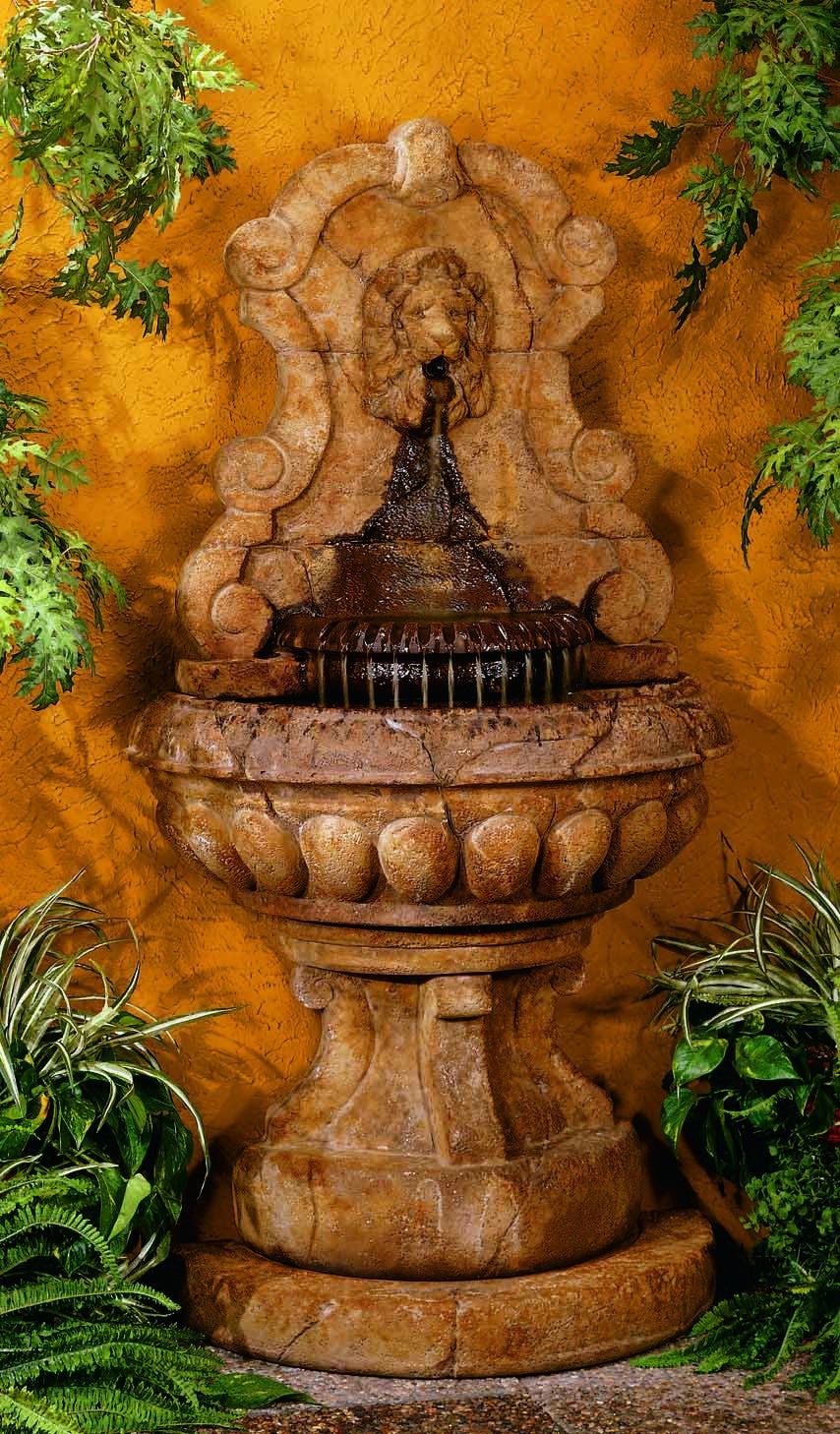 Europa Murabella Lion Wall Outdoor Fountain - Soothing Walls