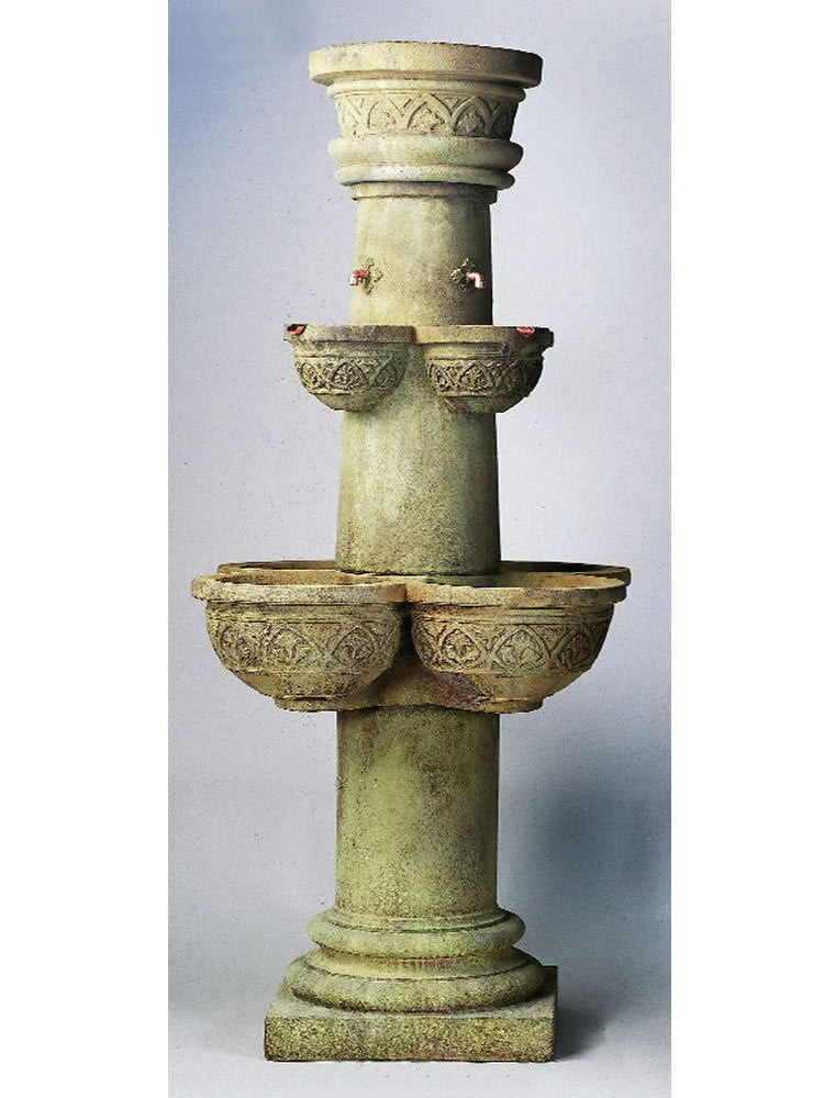 Cathedral Outdoor Water Fountain - Soothing Walls
