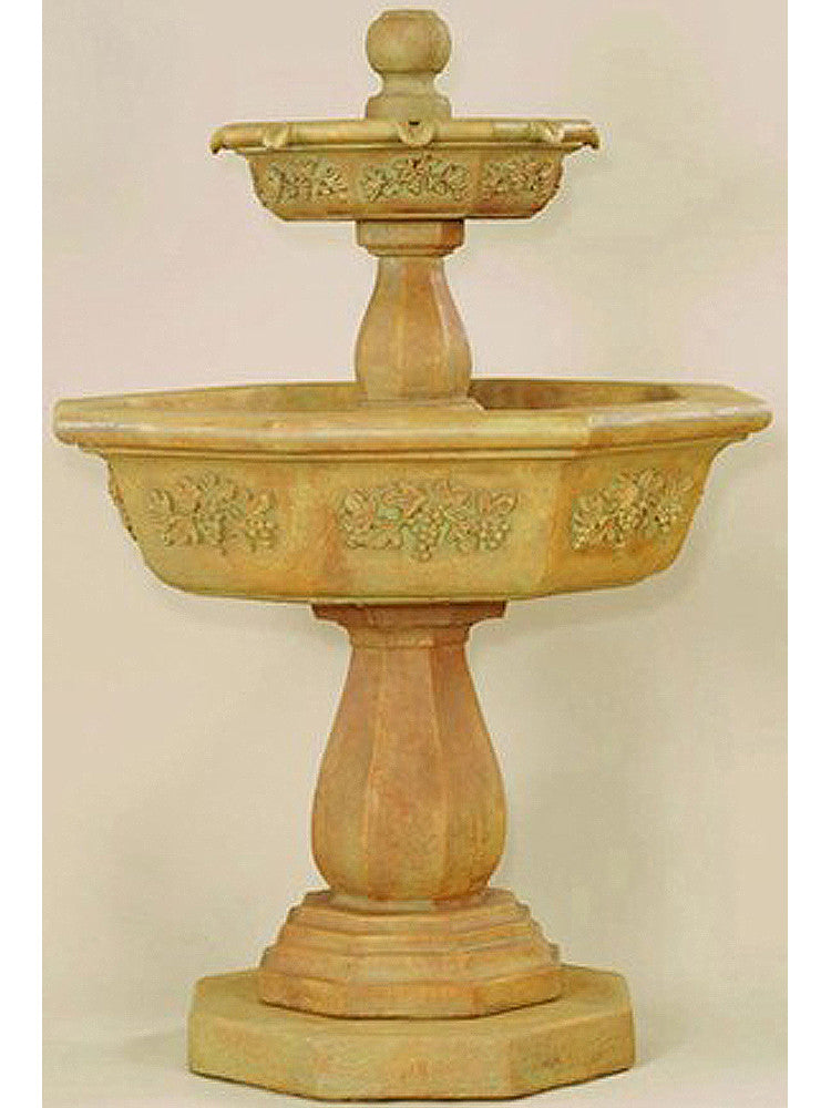 Uva Two Tier Outdoor Water Fountain - Soothing Walls