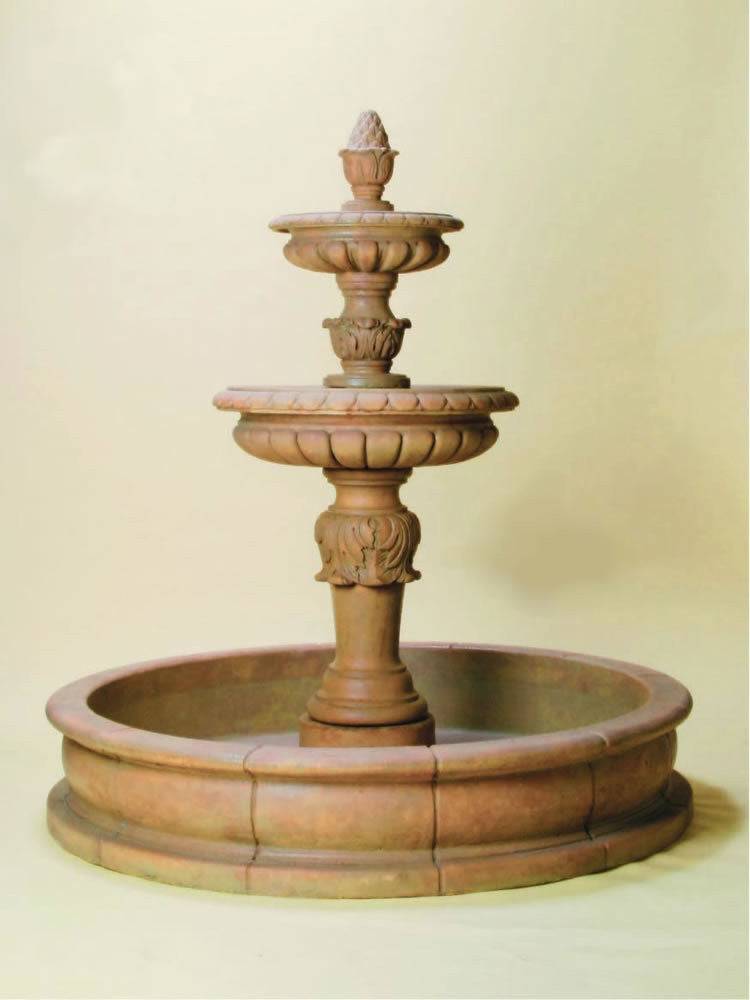 Fonte Acanto Pond Outdoor Water Fountain - Soothing Walls