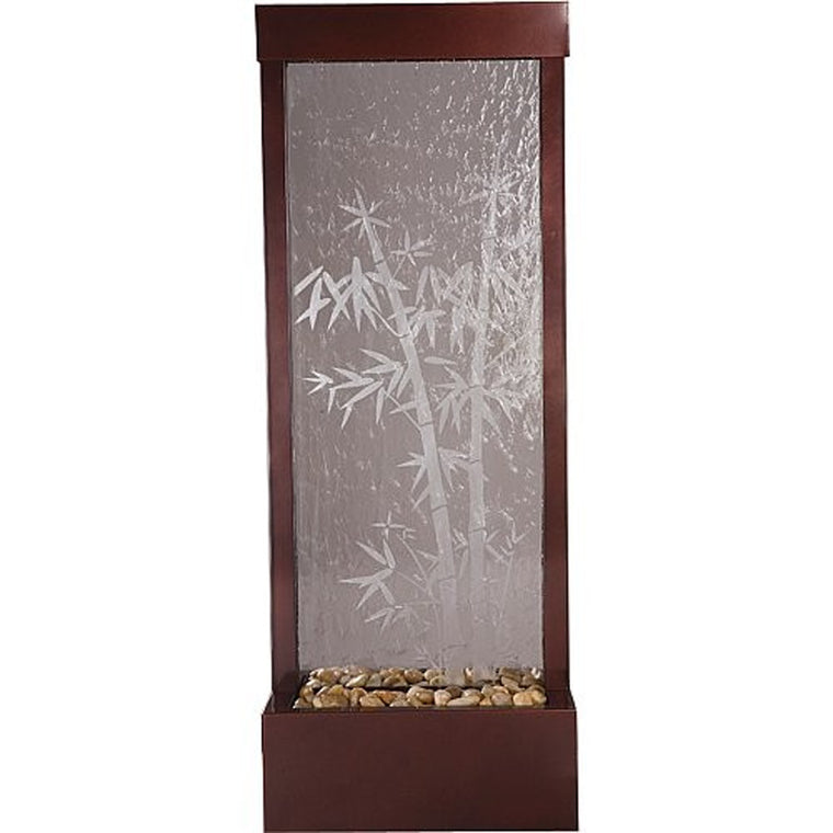 4' Gardenfall Etched Bamboo Floor Fountain - Soothing Walls