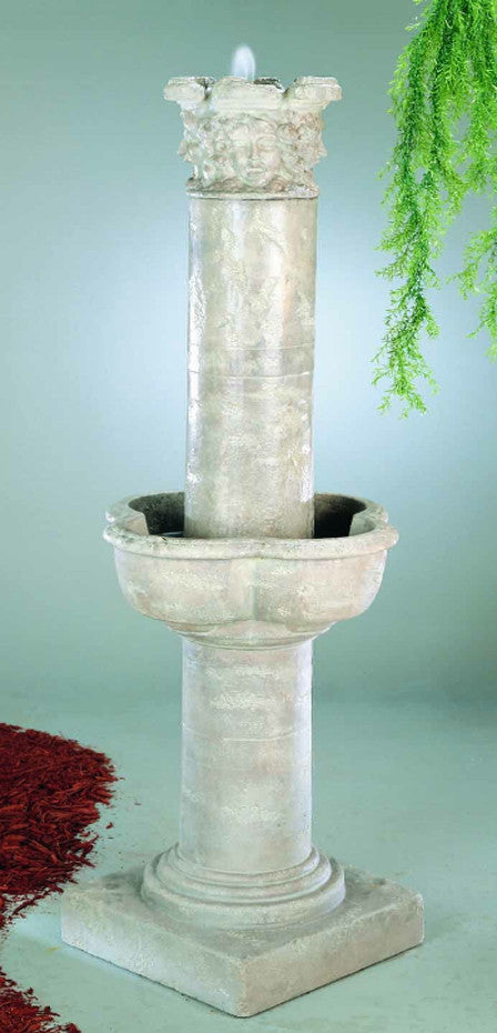 Large Four Seasons Column Fountain - Soothing Walls