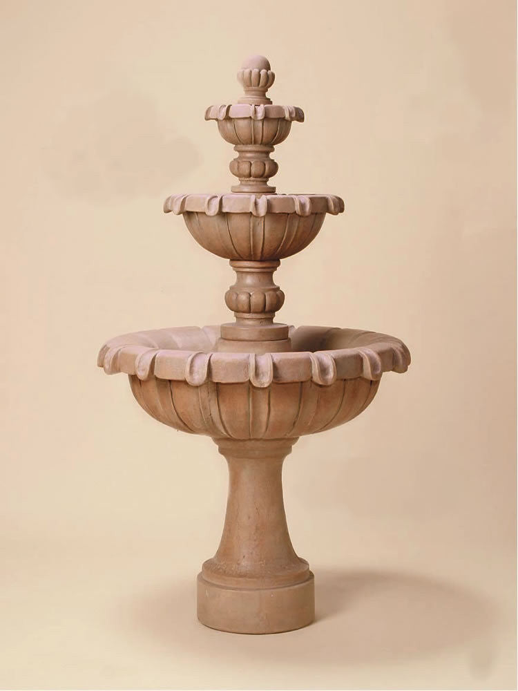 Chateau Three Tier Outdoor Water Fountain - Soothing Walls