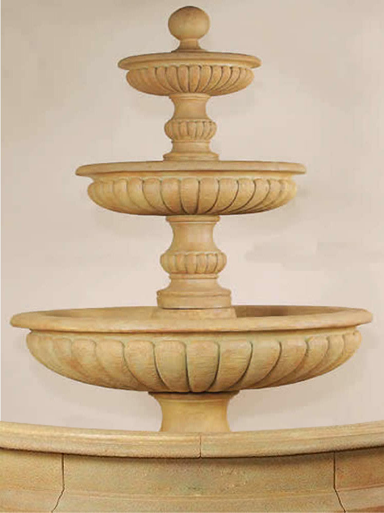 Acqua Sparta Three Tier Outdoor Water Fountain for Pond - Soothing Walls