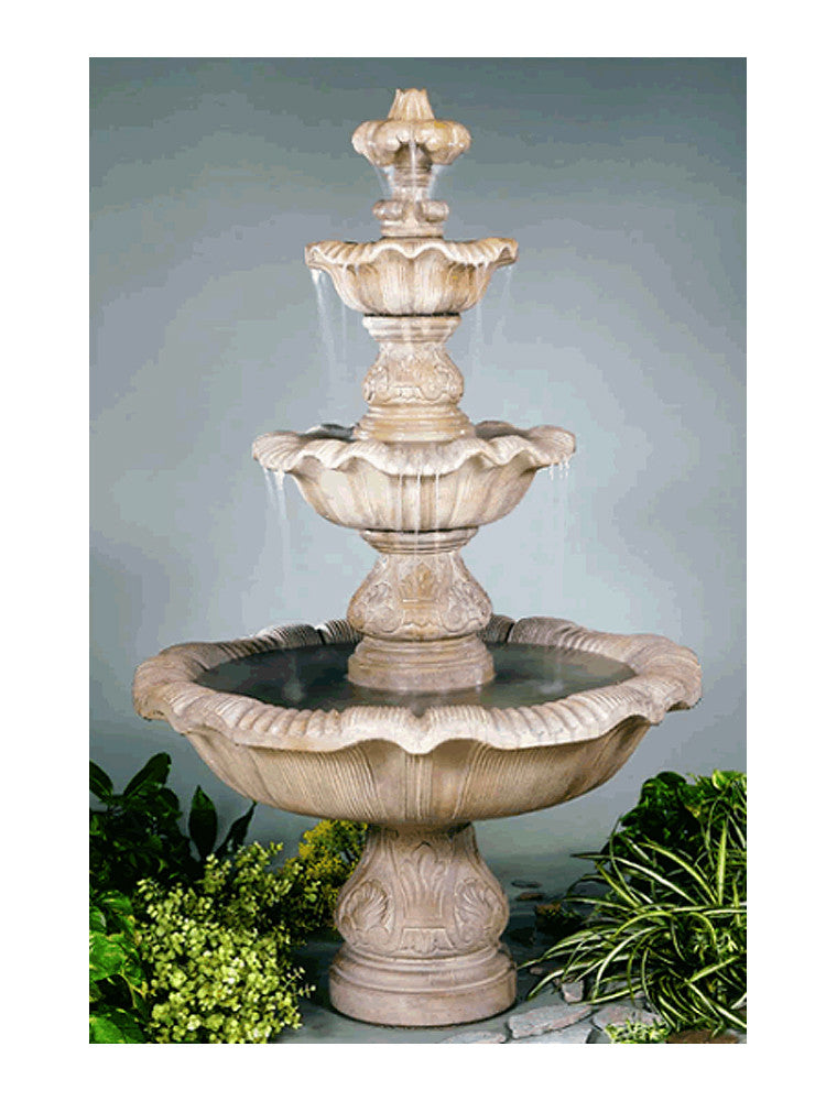 Three Tier Renaissance Outdoor Fountain - Soothing Walls
