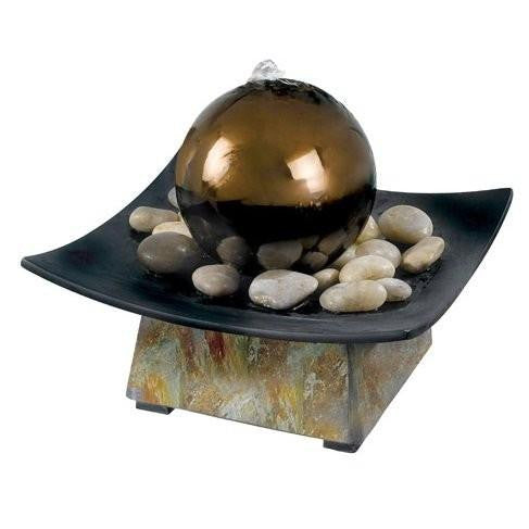 Lovely Sphere Tabletop Water Fountain   Soothing Walls