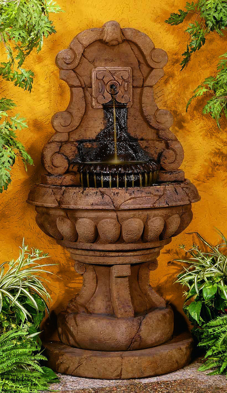 Europa Murabella Scroll Wall Outdoor Fountain - Soothing Walls
