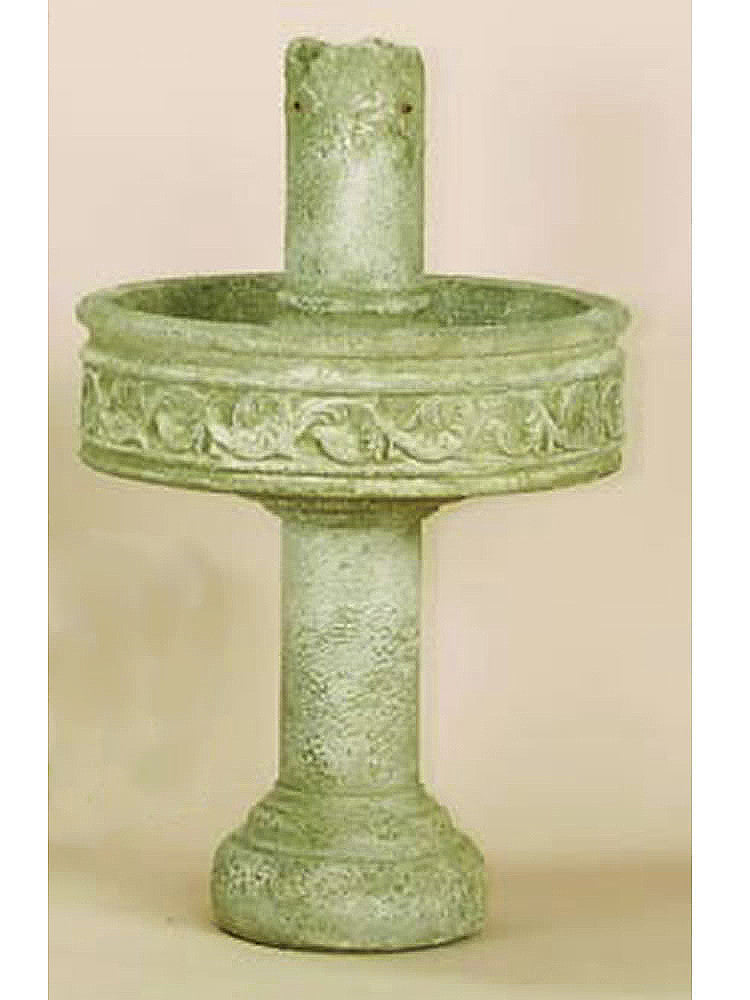 Pompeii Column Outdoor Water Fountain with Tall Base - Soothing Walls