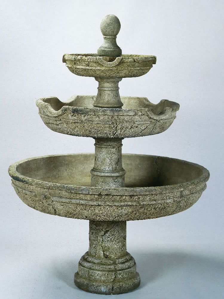 Agrigento Three Tier Outdoor Water Fountain - Soothing Walls