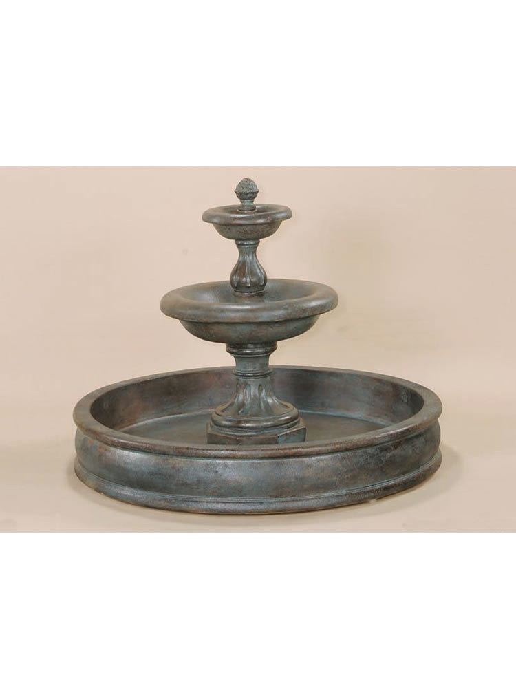 Mantova Tiered Pond Outdoor Water Fountain - Soothing Walls