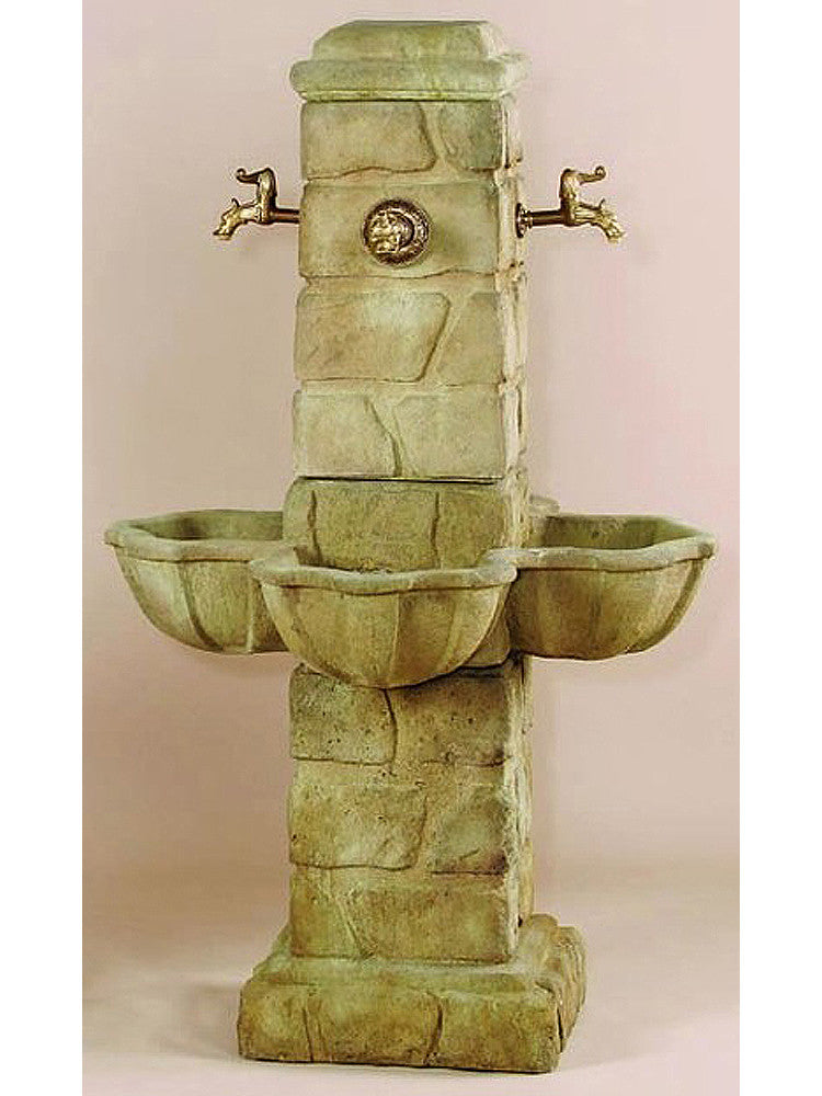 Quattro Rustichella Outdoor Water Fountain for 4 Spout - Soothing Walls
