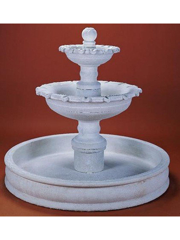 Marina Two Tier Pond Outdoor Water Fountain - Soothing Walls