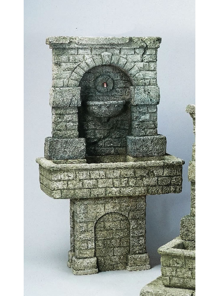 SPQR Outdoor Water Fountain with Pedestal - Soothing Walls