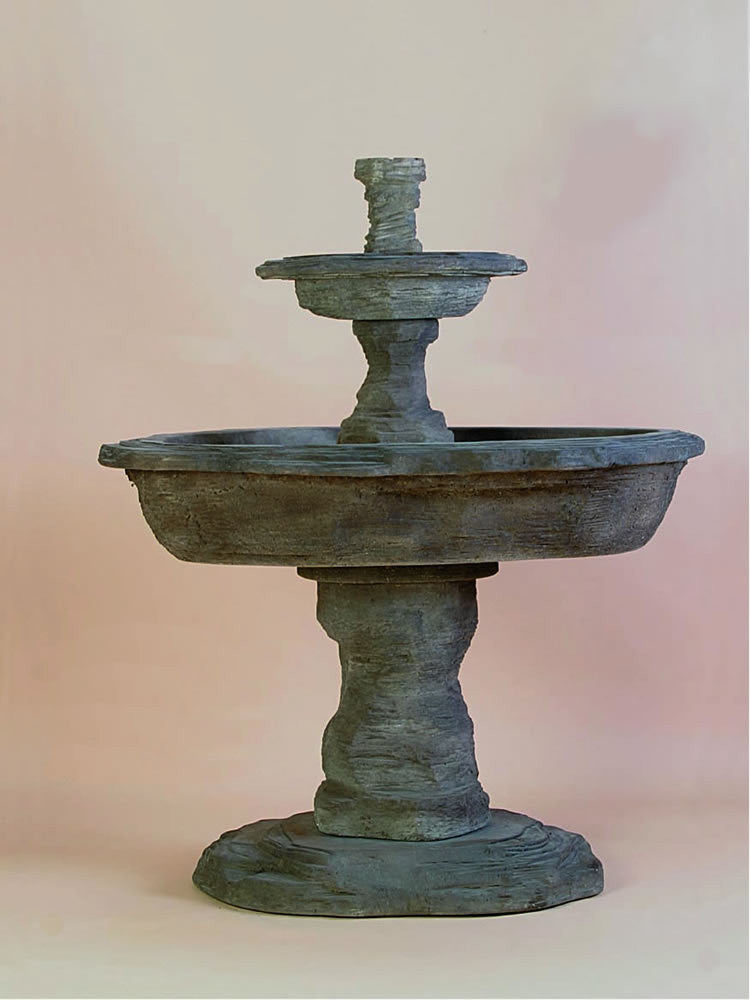 Artesia Slate Two Tier Outdoor Water Fountain - SoothingWalls