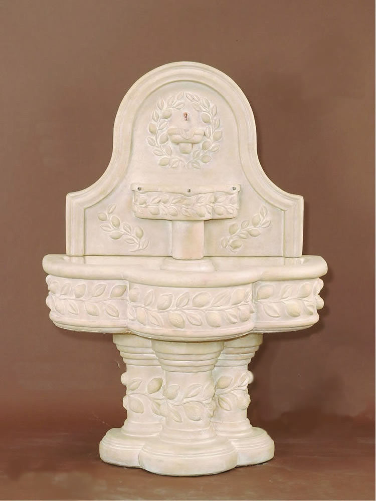 Deruta Lemon Wall Outdoor Water Fountain - Soothing Walls