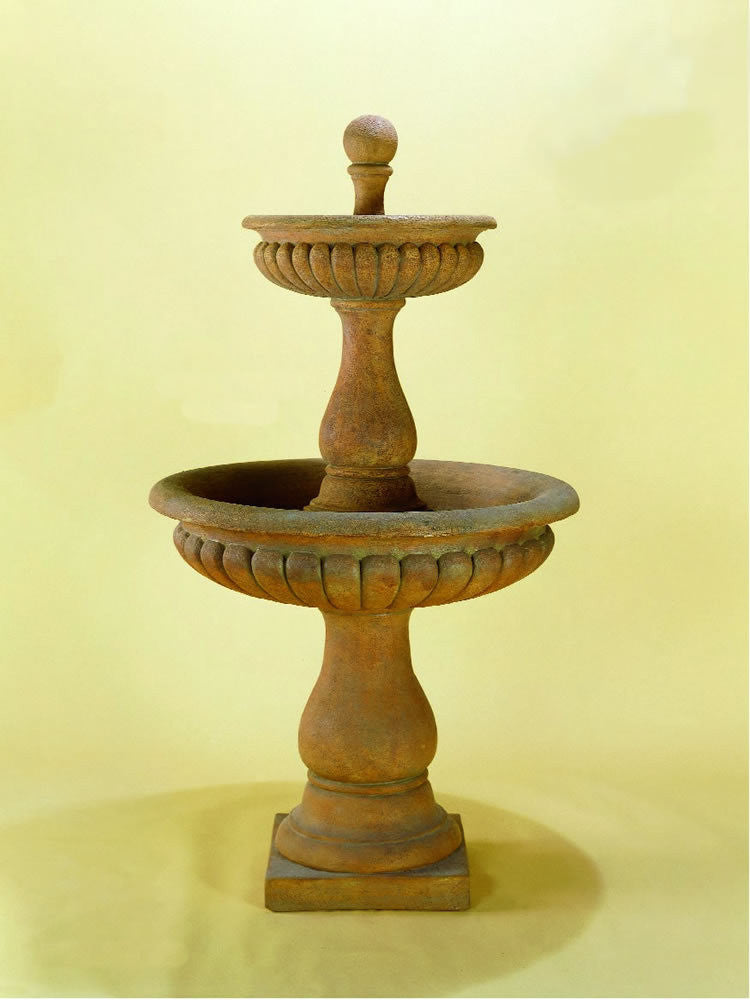Dorica Two Tier Outdoor Water Fountain - Soothing Walls