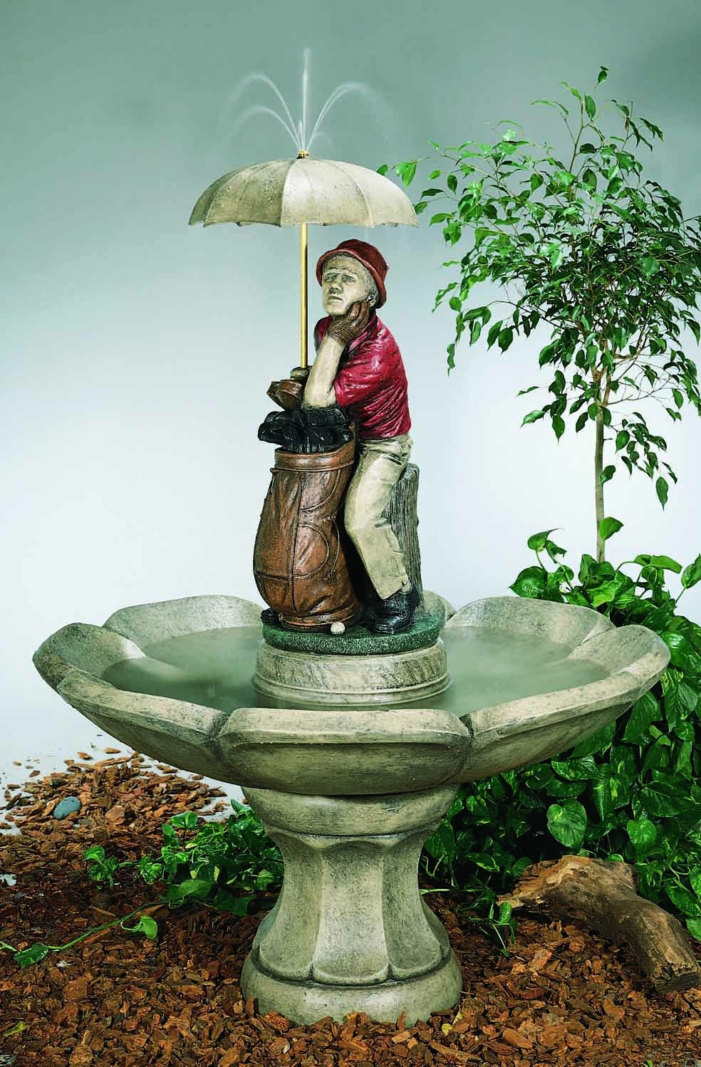 Large Golfer Fountain - Soothing Walls