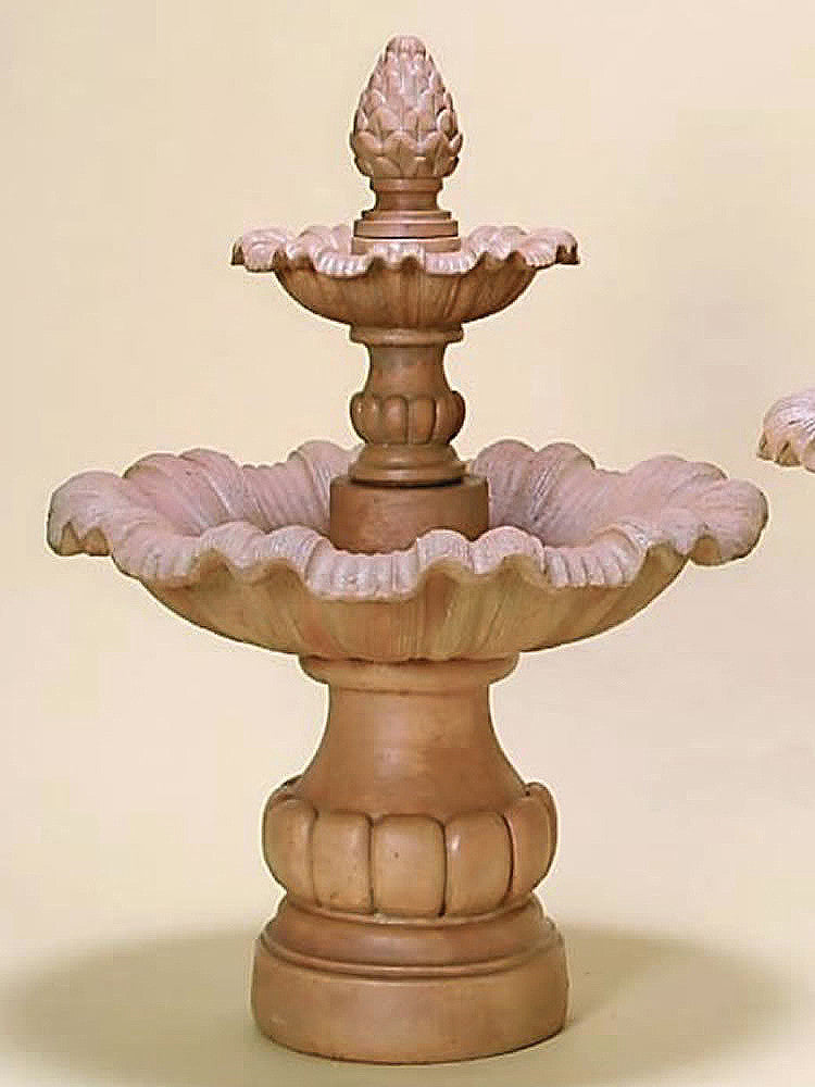 Viterbo Two Tier Outdoor Water Fountain - Soothing Walls