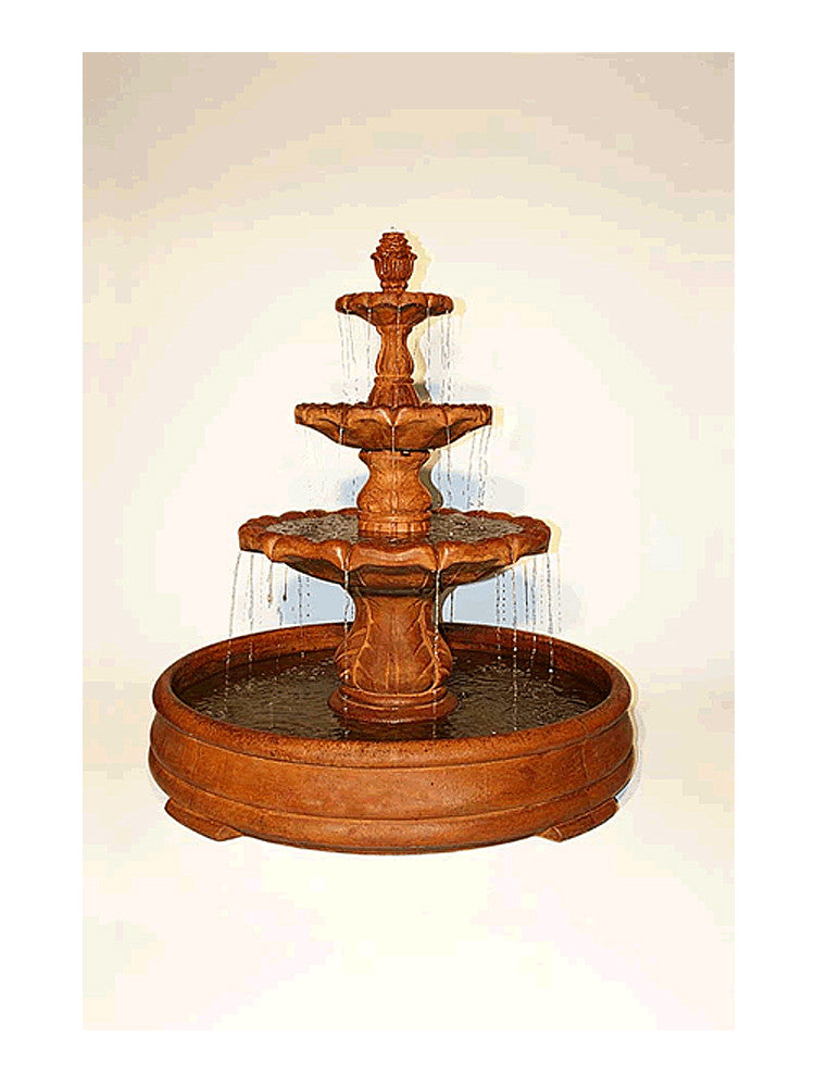 Classical Finial Outdoor Water Fountain in Grando Pool - SoothingWalls
