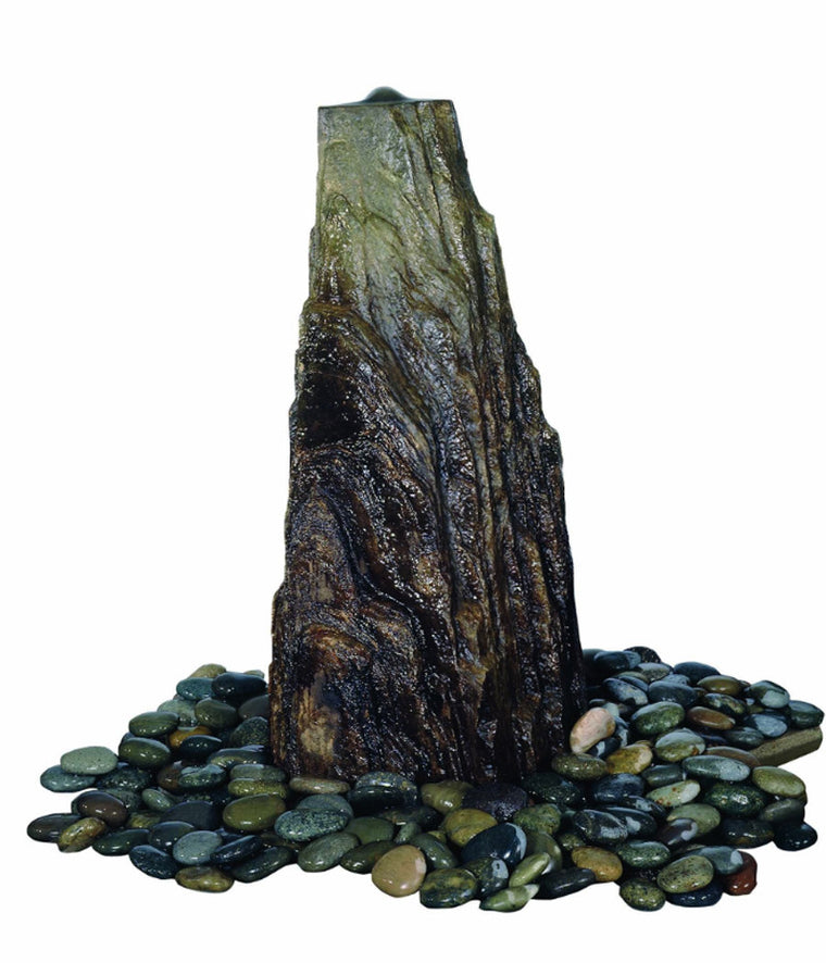 Apex Rock Pondless Garden Fountain - Soothing Walls