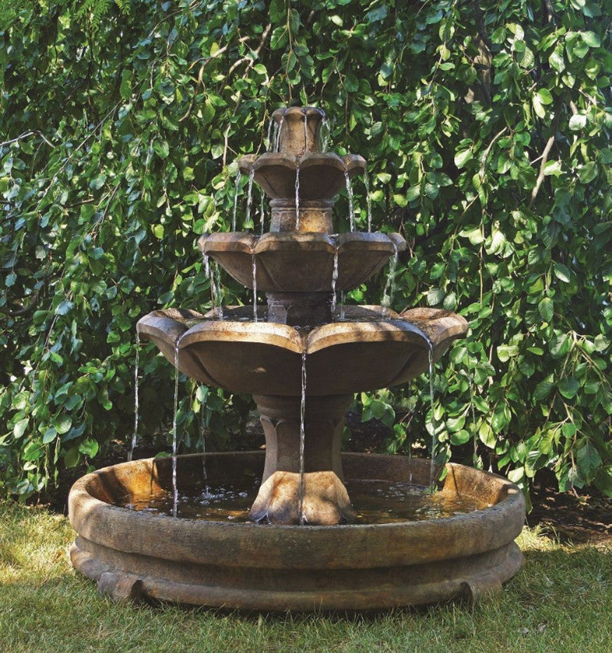 Montreux Three Tier Fountain in Rondo Pool - Soothing Walls