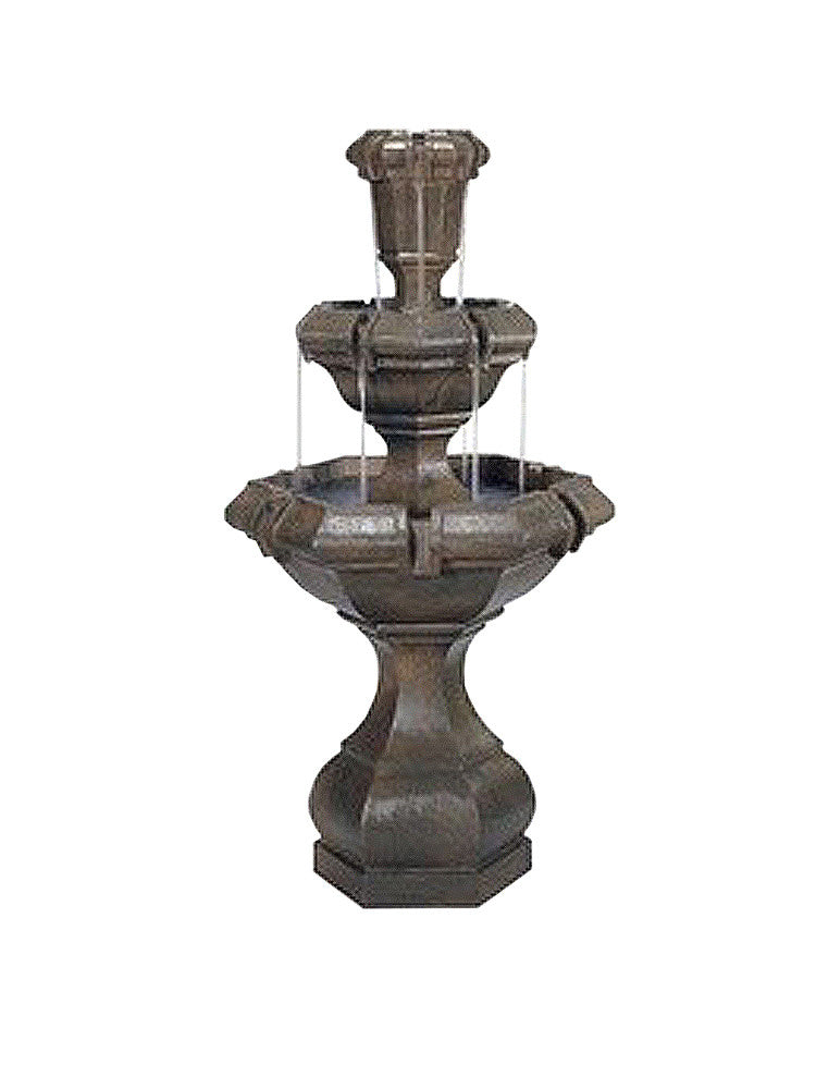 Kensington Two Tier Outdoor Fountain - Soothing Walls