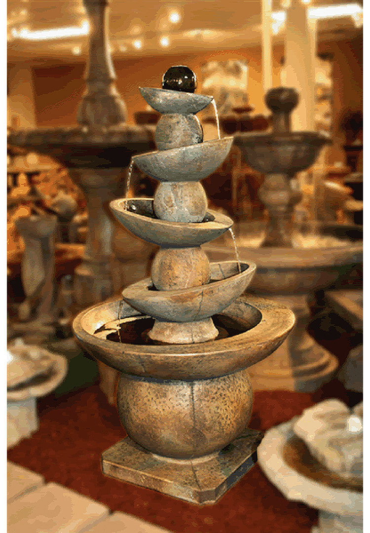 Equilibria Cast Stone Outdoor Fountain - Soothing Walls