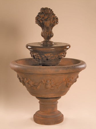 2-Tier Fruit Urn Fountain - Soothing Walls