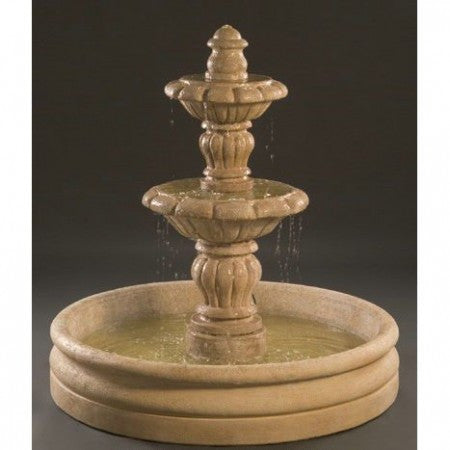 "Espana Outdoor Fountain - Small with 46"" Basin - Soothing Walls"