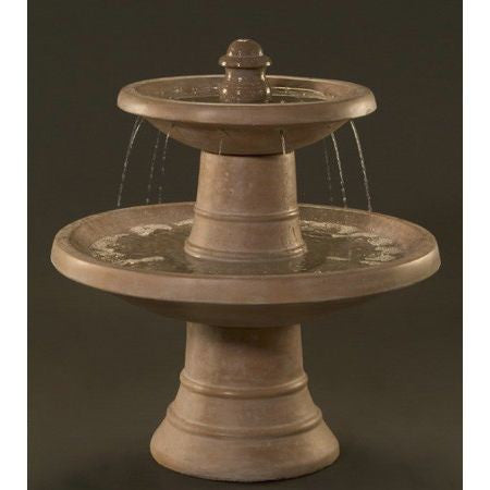 Spanish Two Tier Outdoor Fountain - Soothing Walls