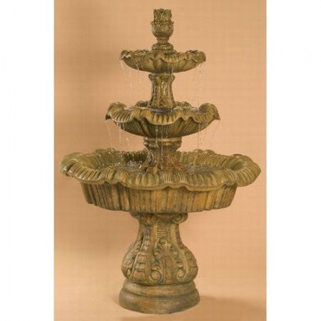 Italian 3-Tier Outdoor Fountain - Tall - Soothing Walls