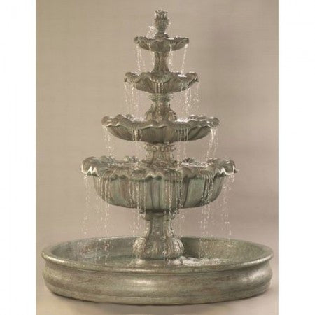 "Italian 4-Tier Outdoor Water Fountain with 74 "" Basin - Soothing Walls"