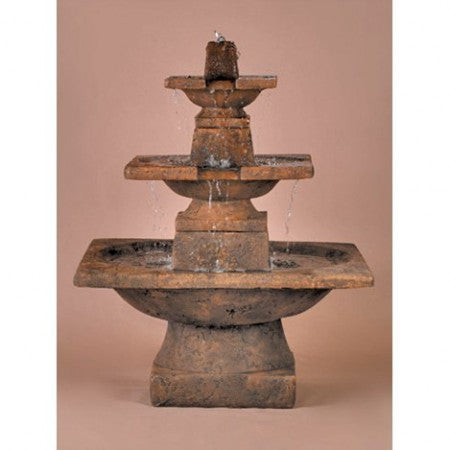 3-Tier Quadrate Outdoor Fountain - Soothing Walls