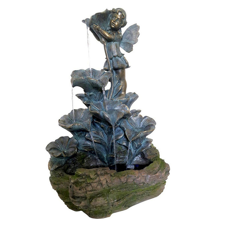 Bronze Fairy Tiered Leaf Fountain - Soothing Walls