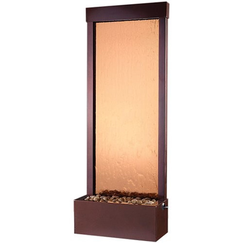 4' Gardenfall Floor Fountain - Bronze Mirror and Dark Copper - Soothing Walls