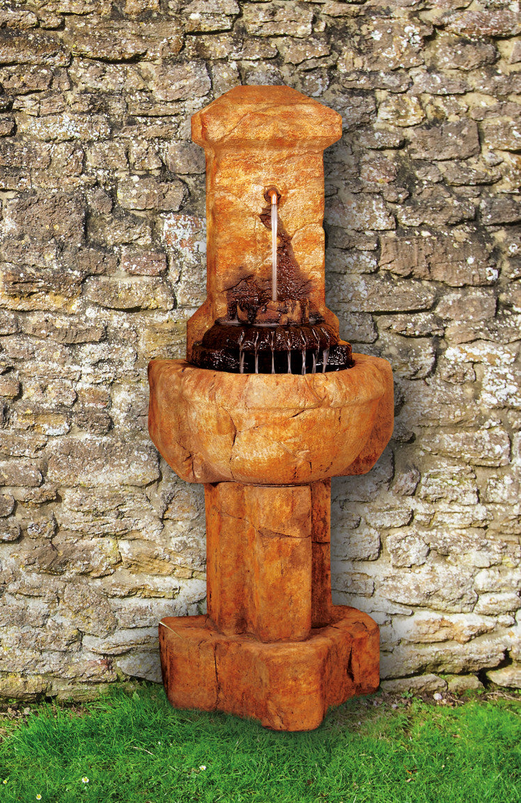 Chalet Cast Stone Garden Fountain - SoothingWalls