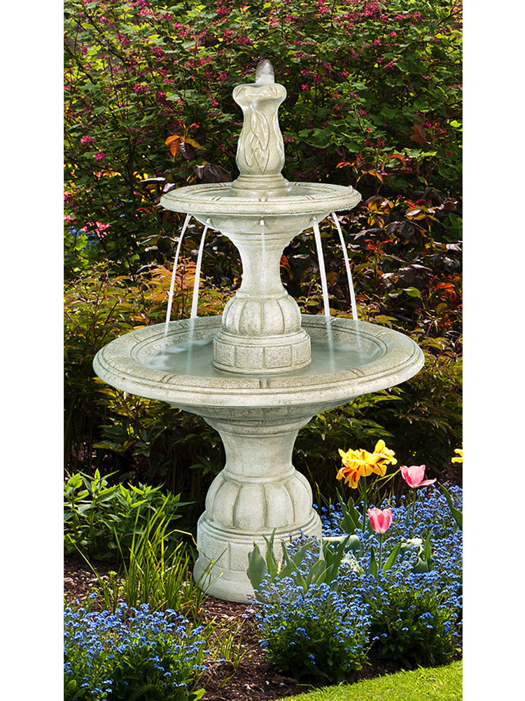 Small Contemporary Tier Outdoor Fountain - Soothing Walls