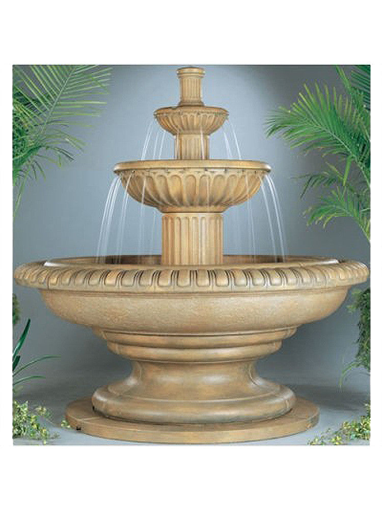 Palazzo Fluted Outdoor Water Fountain - Soothing Walls